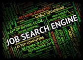 Job Search Engine Indicates Gathering Data And Analysis — Stock Photo