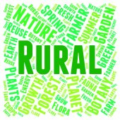 Rural Word Shows Country Life And Backwoods — Stock Photo