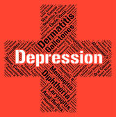 Depression Word Indicates Lost Hope And Affliction — Stock Photo