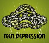 Teen Depression Means Lost Hope And Anxiety — Stock Photo