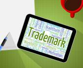 Trademark Word Means Brand Name And Emblem — Stock Photo