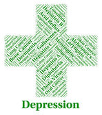 Depression Word Represents Lost Hope And Affliction — Stock Photo