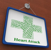Heart Attack Means Acute Myocardial Infarction And Afflictions — Fotografia Stock