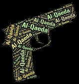 Al-Qaeda Word Represents Freedom Fighter And Anarchist — Stok fotoğraf