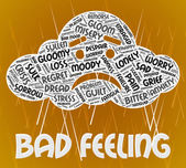 Bad Feeling Indicates Ill Will And Animosity — Stock Photo