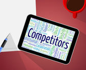 Competitors Word Represents Adversary Competing And Competition — Stock Photo