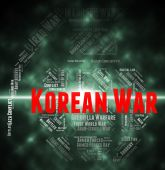 Korean War Means Military Action And Chosungul — Stock Photo