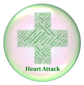 Heart Attack Indicates Ill Health And Ailments — Fotografia Stock