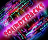 Musik Soundtracks betyder Video spel och melodier — Stockfoto