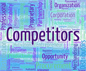 Competitors Word Shows Opponent Wordclouds And Opposition — Stock Photo