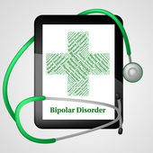 Bipolar Disorder Represents Manic Depressive Psychosis And Ailme — Stock Photo