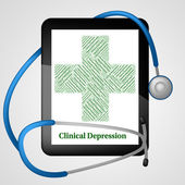 Clinical Depression Shows Crack Up And Ailment — Stock Photo