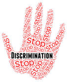 Stop Discrimination Means One Sidedness And Bigotry — Stock Photo