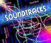 Soundtracks musik visar videospel och melodier — Stockfoto