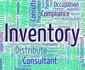 Inventory Word Shows Logistic Wordclouds And Supply — Stock Photo
