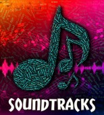 Soundtracks musik visar film och kompletterande — Stockfoto