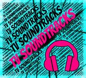 TV Soundtracks visar liten skärm och harmonier — Stockfoto