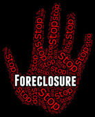 Stop Foreclosure Shows Repayments Stopped And Borrower — Stock Photo