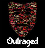 Outraged Word Represents Text Horrify And Disgust — Stock Photo