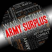 Army Surplus Represents Military Service And Armies — Stock Photo