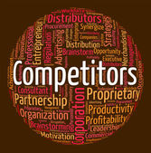 Competitors Word Means Text Wordclouds And Words — Stock Photo