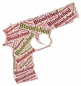 Bloodshed Word Represents Wordclouds Bloodletting And Fighting — Stock Photo