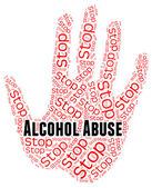 Stop alcoholmisbruik toont behandelen slecht en misbruikt — Stockfoto