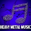 Постер, плакат: Heavy Metal Music Indicates Sound Tracks And Acoustic