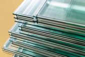 Sheets of Tempered Window Glass — Foto de Stock