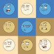 Emotional faces — Stock Vector #72322841
