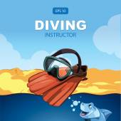 Diving background — Stock Vector