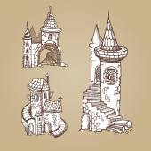 Medieval castles — Stock Vector