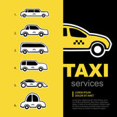 Taxi service logo set — Stock Vector