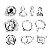 Web chat icons — Stock Vector