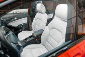 Luxury car interior angle shot — Stock Photo