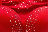 Red bra with glimmering — Stock Photo