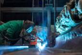 Hall de distribución de energía eléctrica en la industria del metal — Foto de Stock