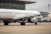 White cargo plane at airport — Stock Photo