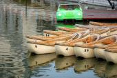 Wooden canoes — Stock Photo