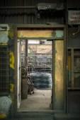 Stor spole i aluminiumwire — Stockfoto