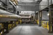 Průmyslové potrubí v tepelné elektrárny — Stock fotografie
