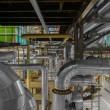 Industrial pipes in a thermal power plant — Stock Photo #58565127