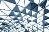 Futuristic architecture with large glass surface — Stock Photo