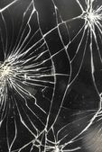 Broken glass of smart phone — Stock Photo