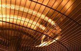 Electric heater closeup photo — Stock Photo