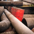 Rusty metal pipes closeup — Stock Photo #62646787