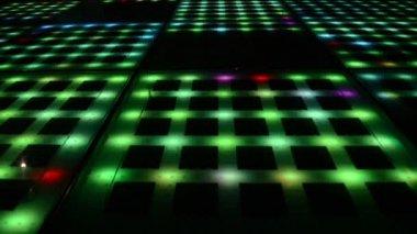 Green flashing lights in the dark — Stock Video