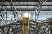Ladder in industrial interior — Stock Photo