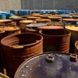 Several barrels of toxic waste — Stock Photo #67540601
