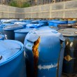 Several barrels of toxic waste — Stock Photo #68882719